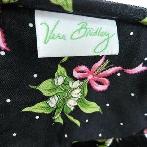 Vera Bradley Snowdrops Pink Ribbons Small Cosmetic